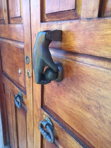 Door knocker. San Miguel is full of inventive knockers.